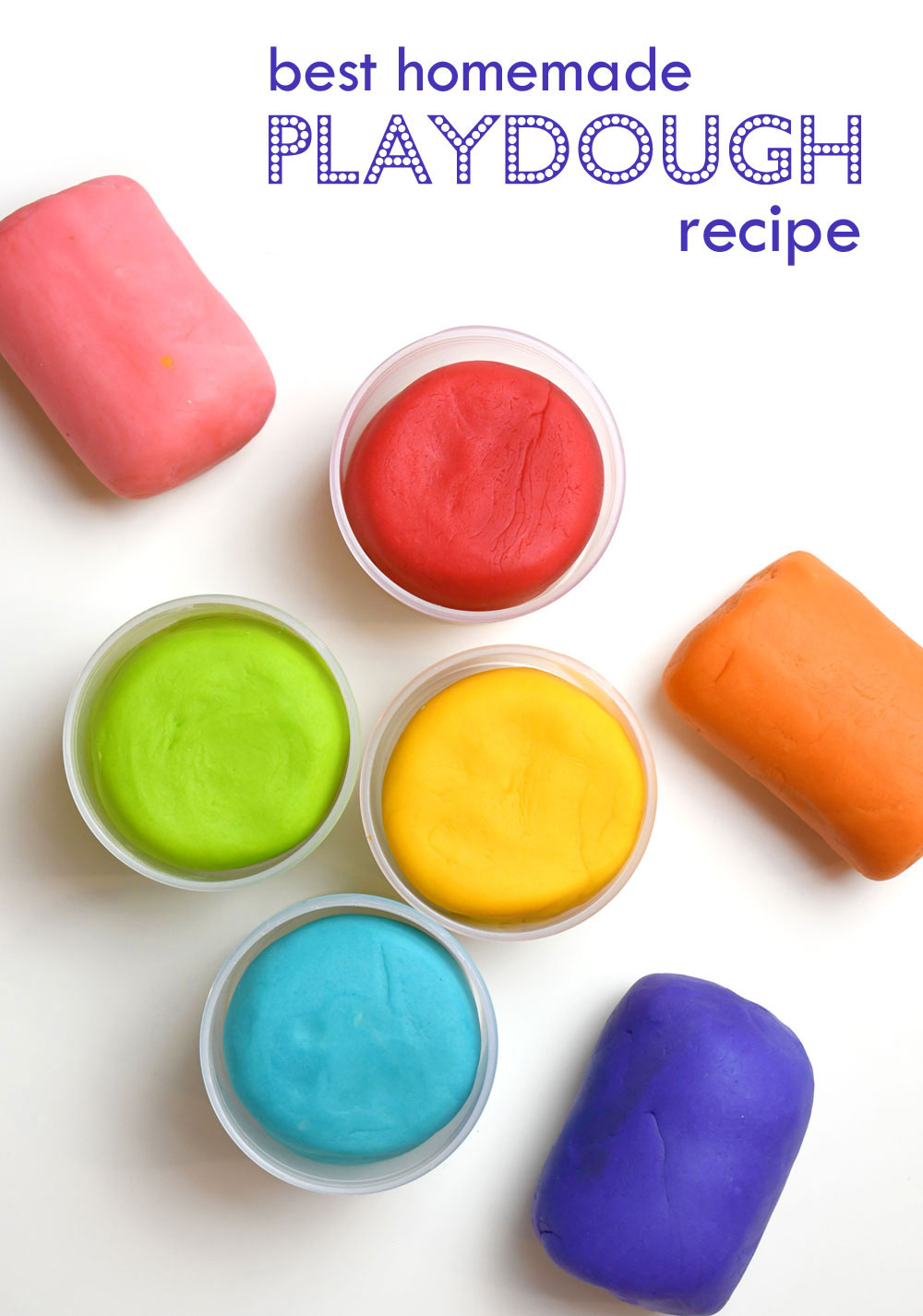 Best homemade playdough for kids bright colors