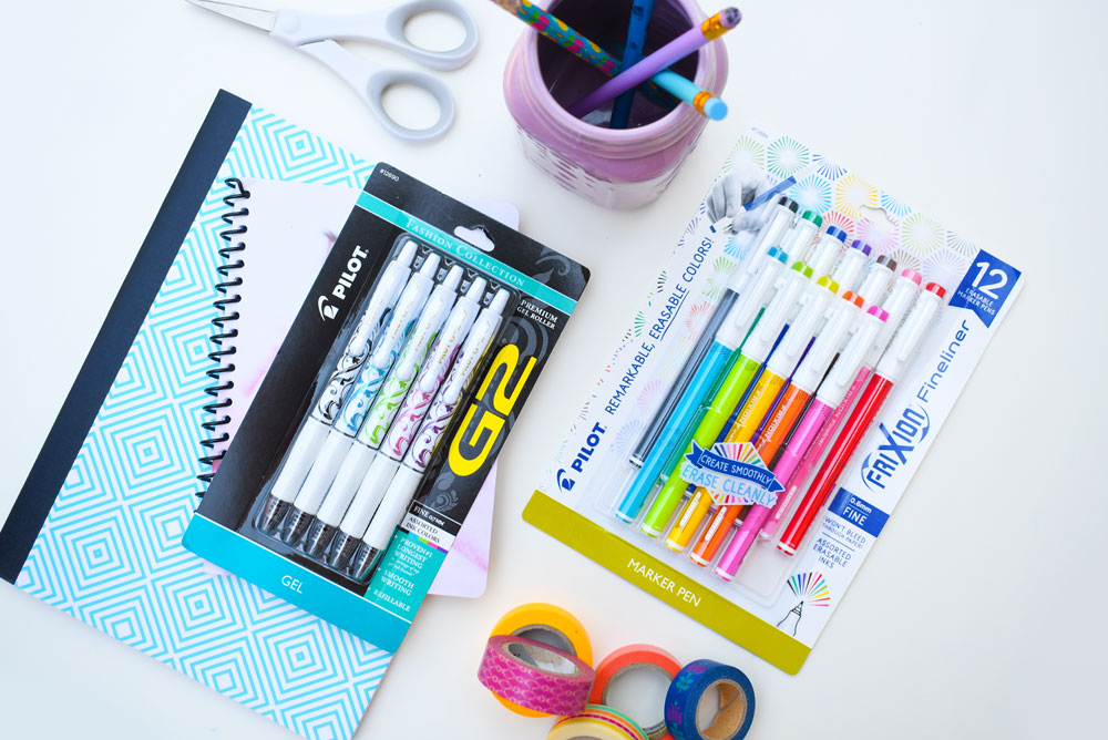 G2 Fashion White Collection 5pk and FriXion Fineliner 12pk by Pilot Pen