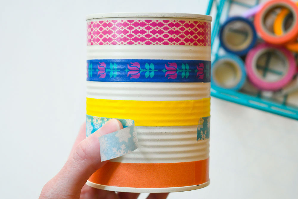 Back to school ideas DIY washi tape pencil cans