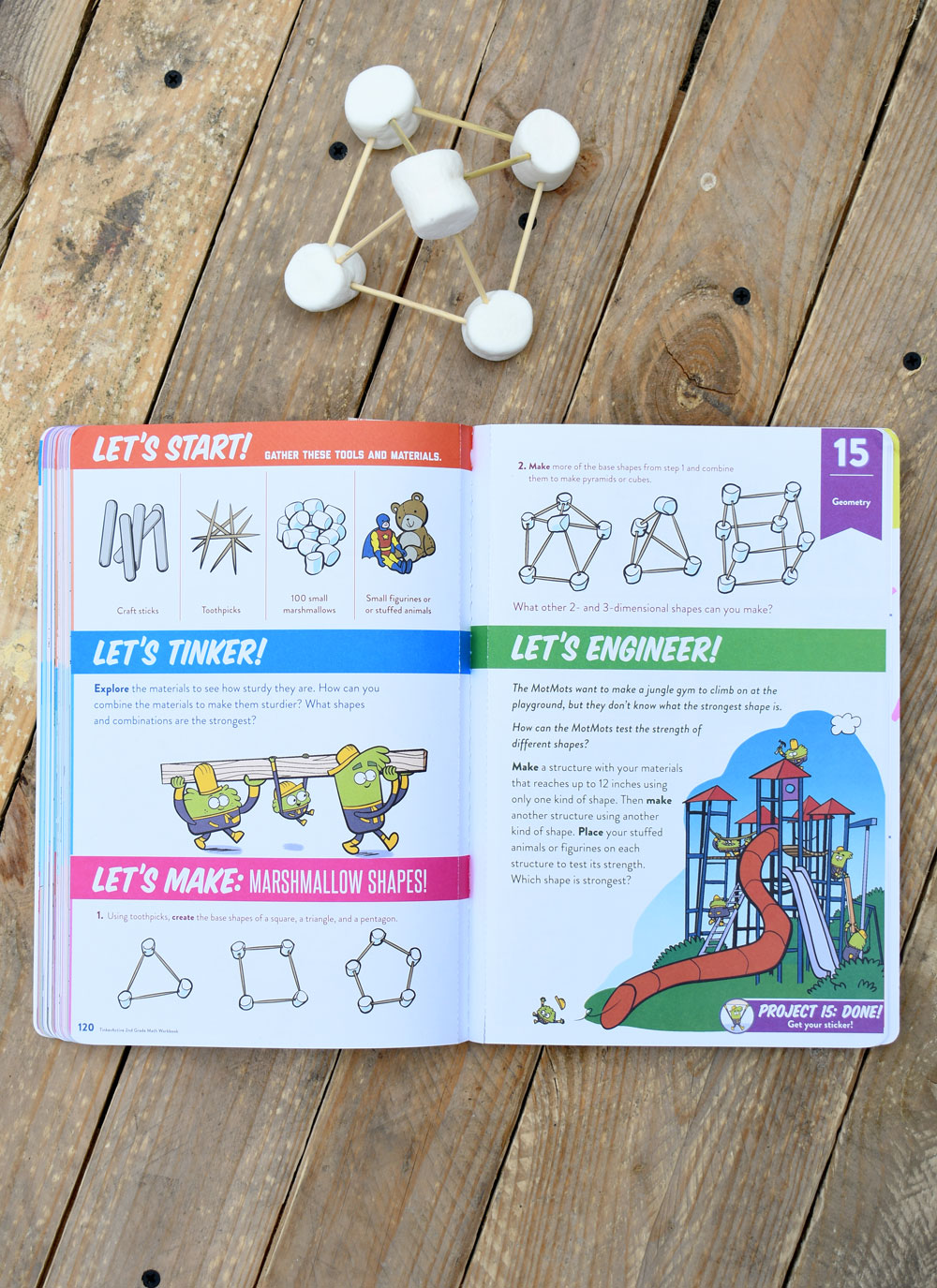 Design 3D marshmallow shapes with TinkerActive workbooks
