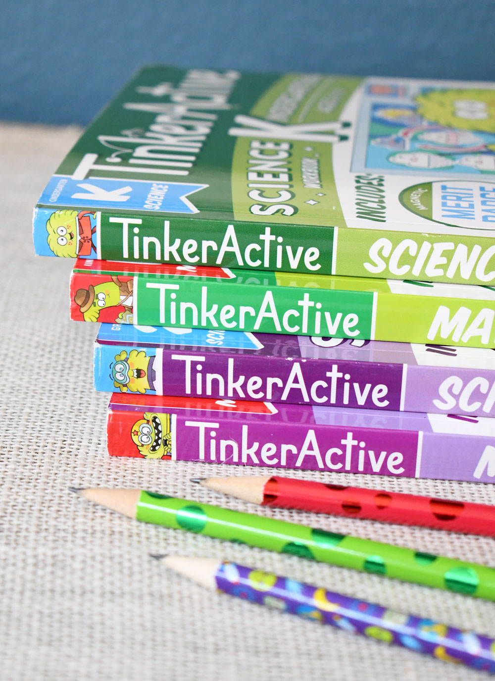 TinkerActive kids workbooks for science and math concepts