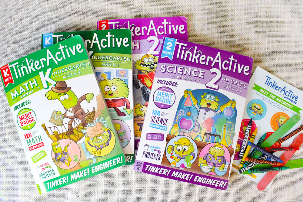 TinkerActive Science and Math workbooks