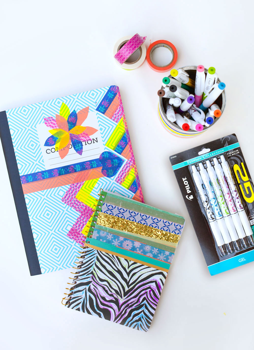 Personalize your notebook with washi tape
