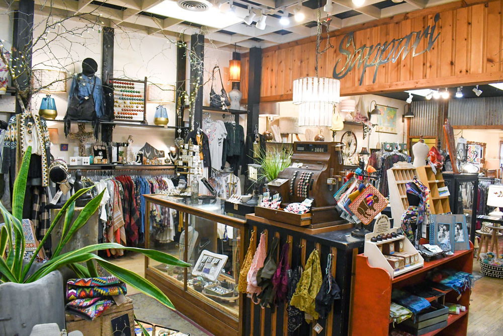 Sappari clothing and accessories store in Whitefish Montana