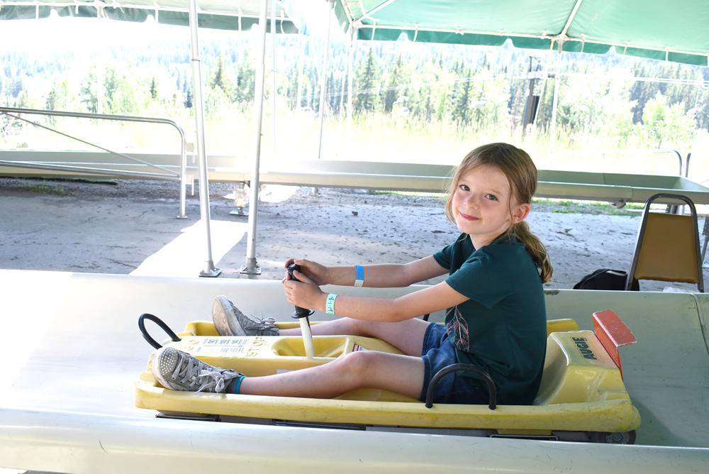 Whitefish Mountain Resort Alpine Slide family activity