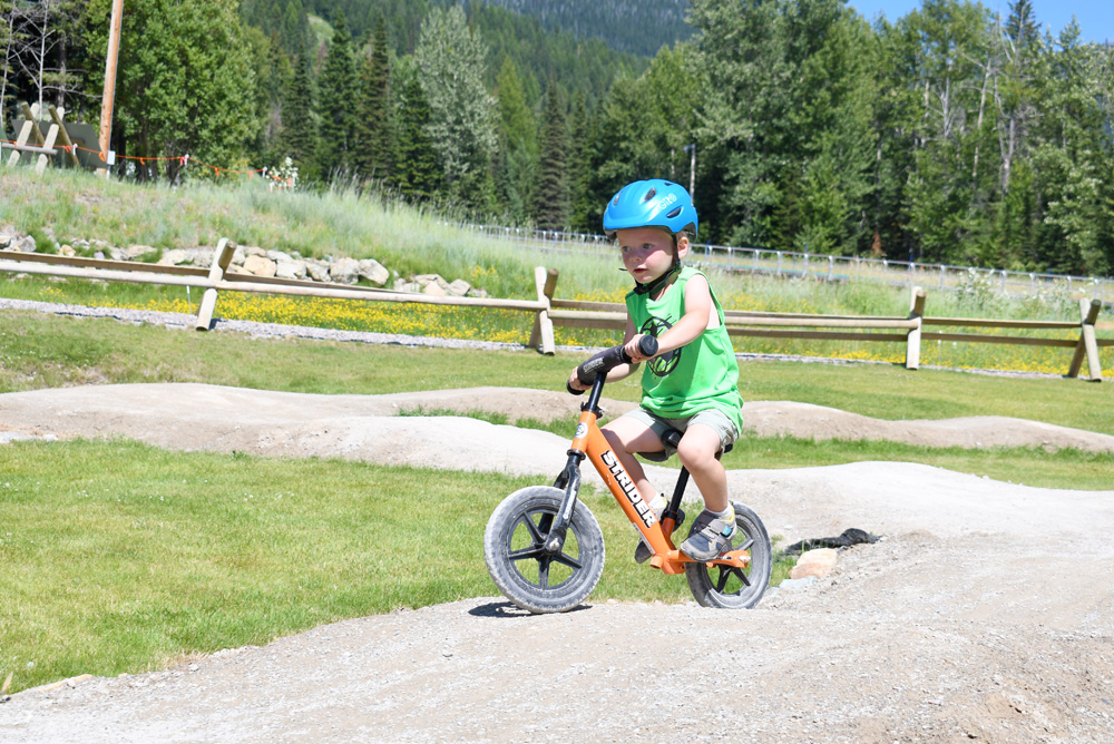 Whitefish Mountain Resort Strider Bike Park trails for kids and balance bikes