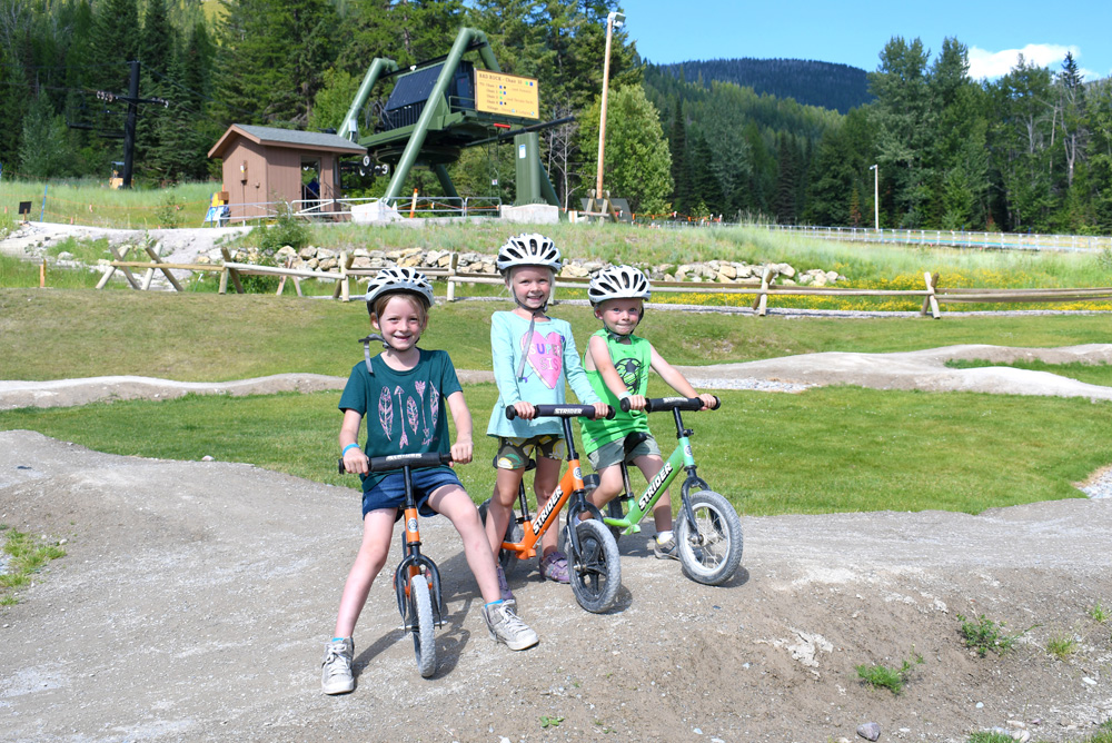 Kids Strider Bike Park at Whitefish Mountain Resort