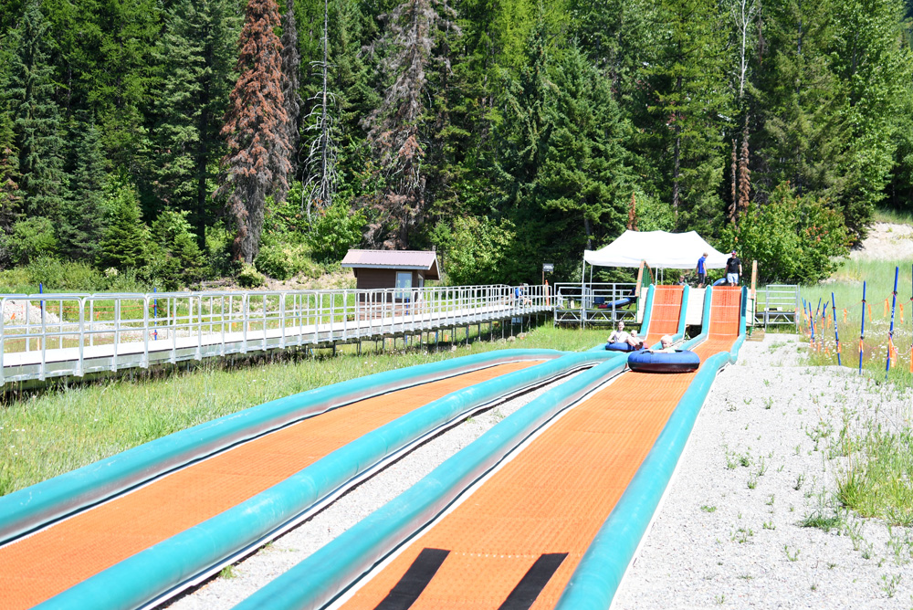 Summer Tubing family activity at Whitefish Mountain Resort in Montana