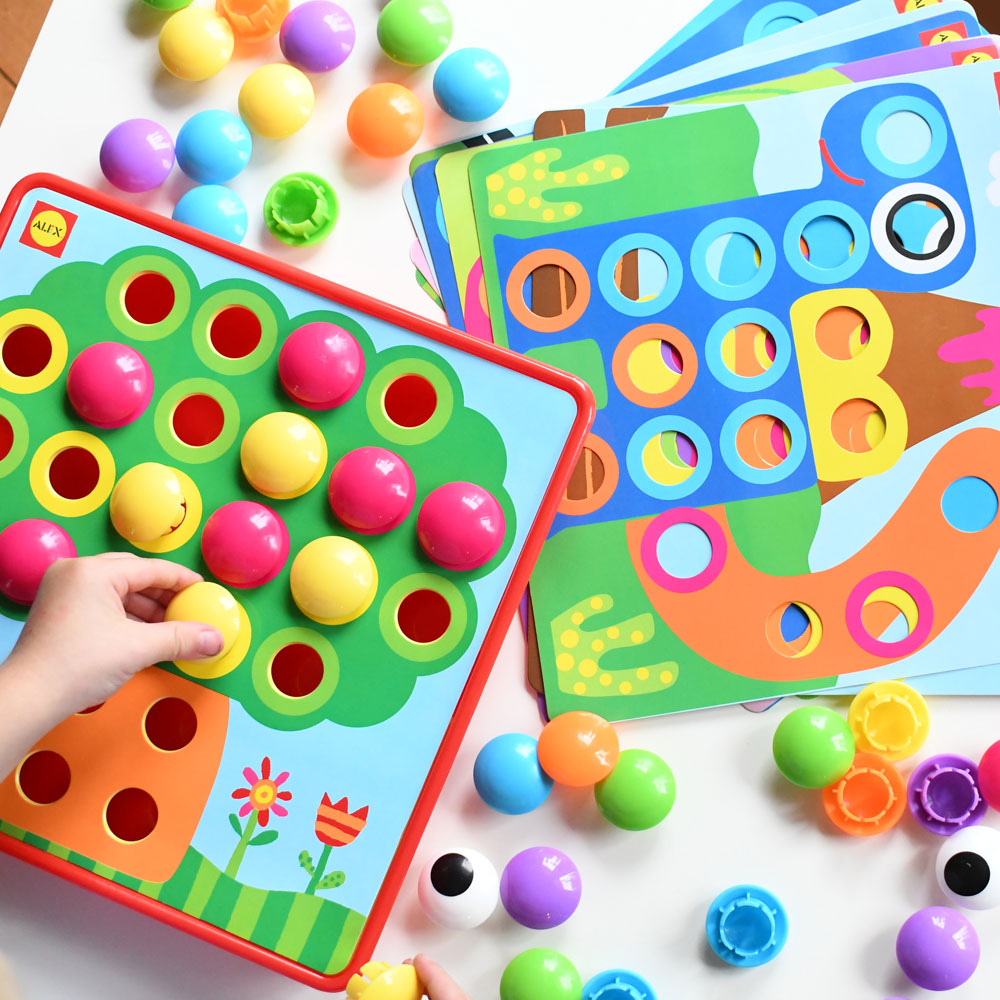Fun School Stuff for Preschool button art activity