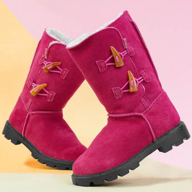 pediped Flex® Maggie Boots in fuchsia for kids