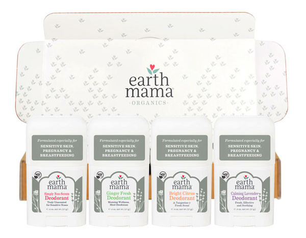 Earth Mama Mini Deodorant 4-pack - Holiday Gift Guide Giveaway