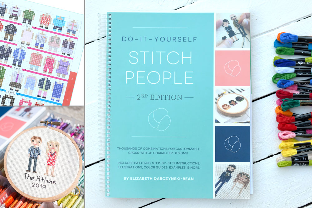 DIY Stitch People book, the comprehensive guide to designing and stitching characters