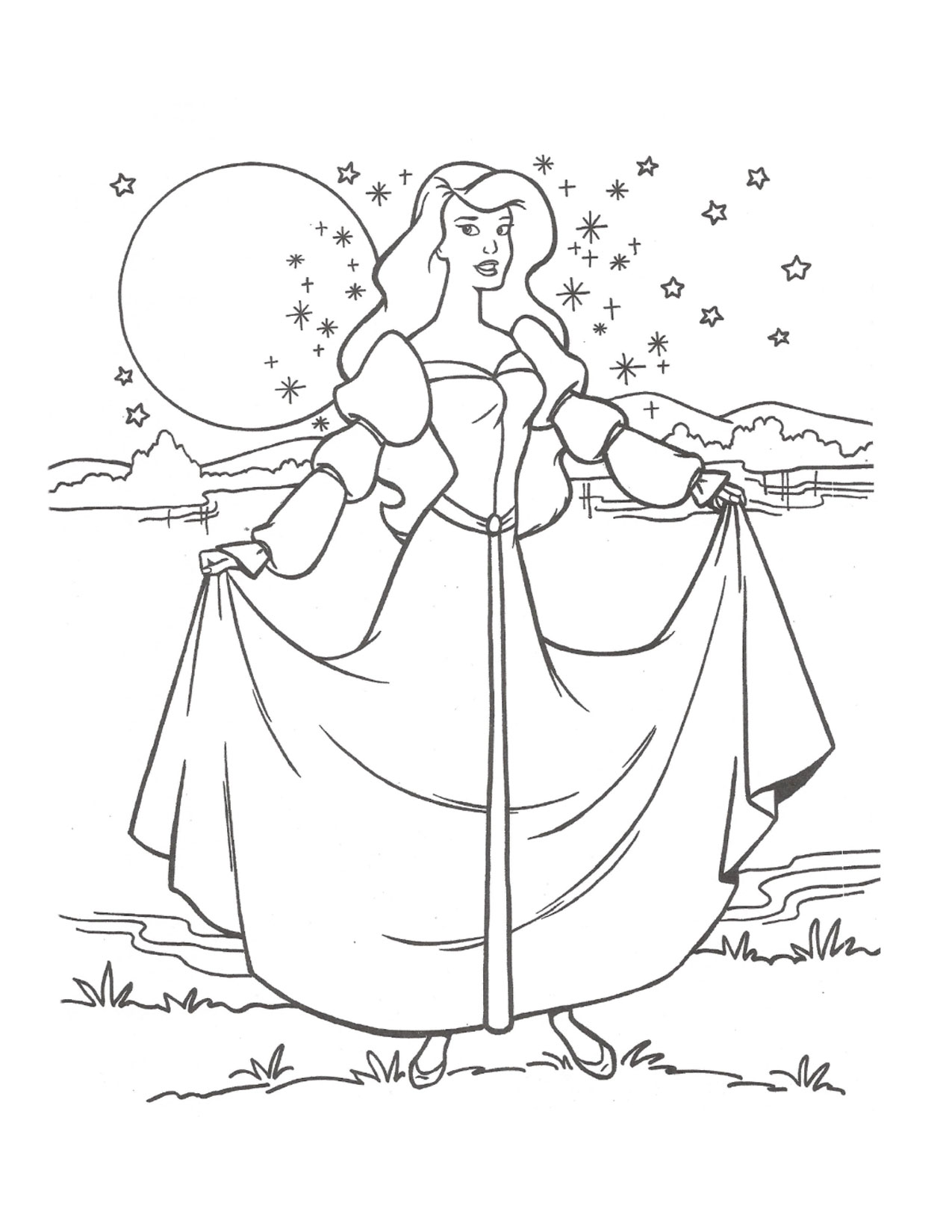 Swan Princess Odette coloring page