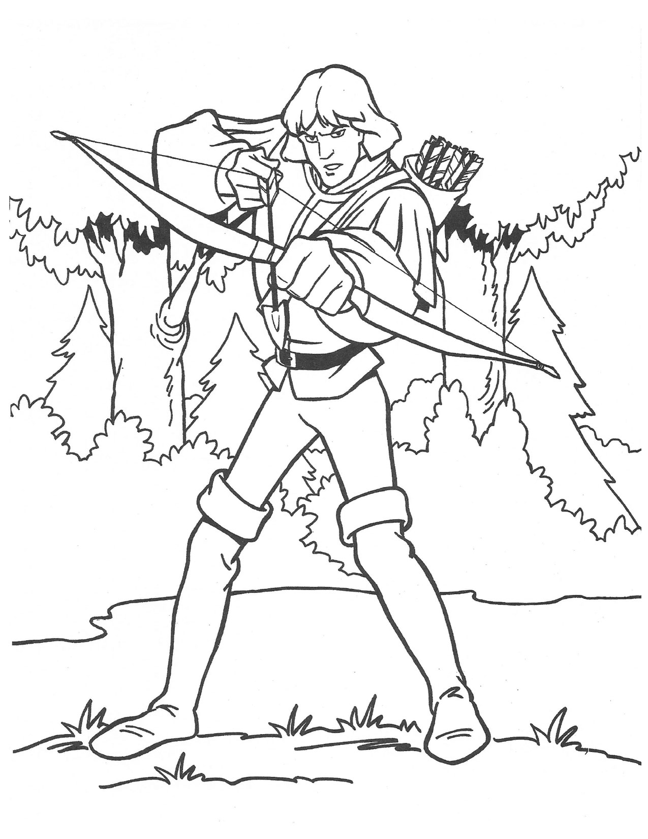 Swan Princess Prince Derek with bow coloring page