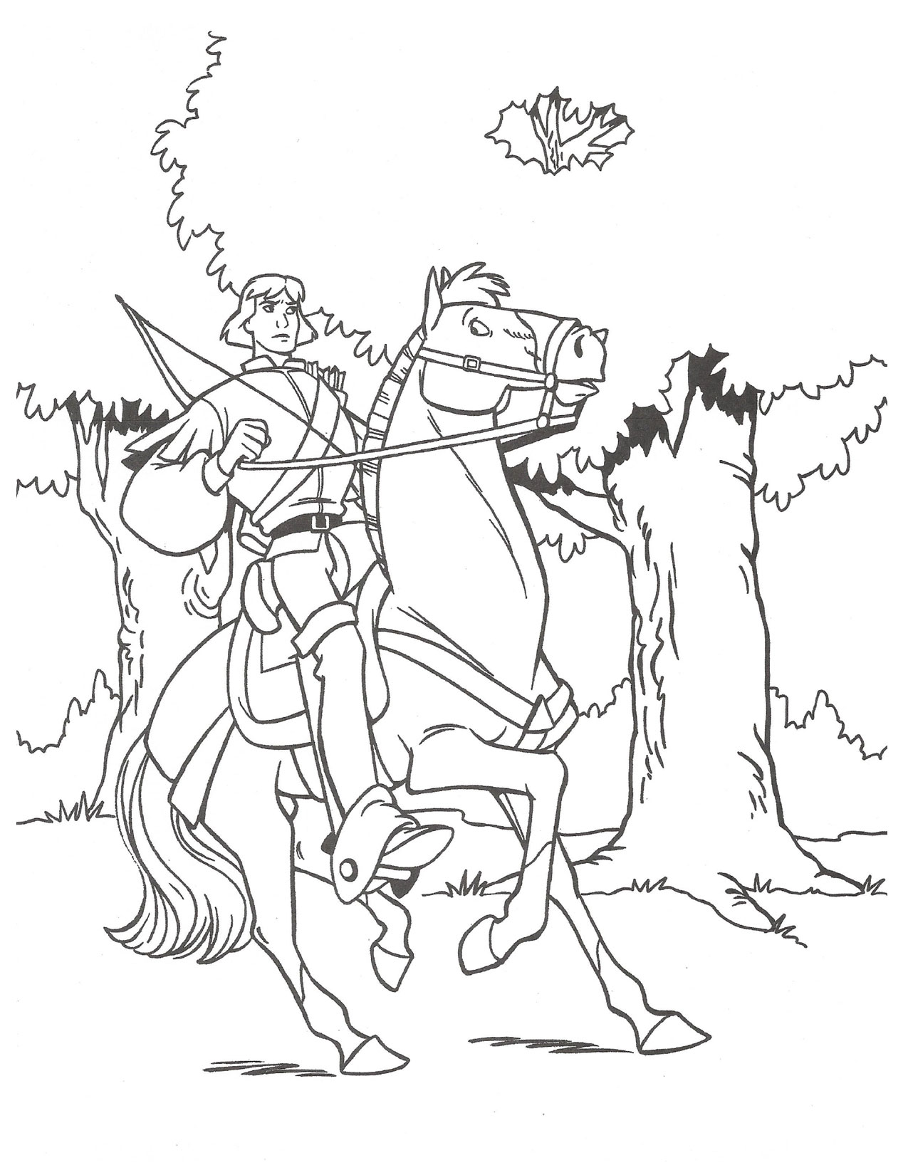 Swan Princess official coloring page 8.png | Princess coloring ... | 1650x1275