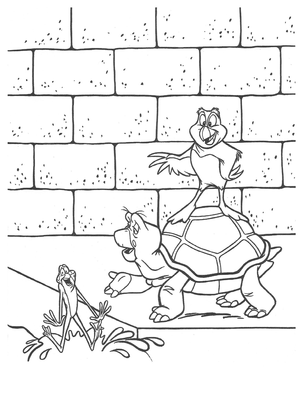 Swan Princess Speed Jean-Bob and puffin coloring page