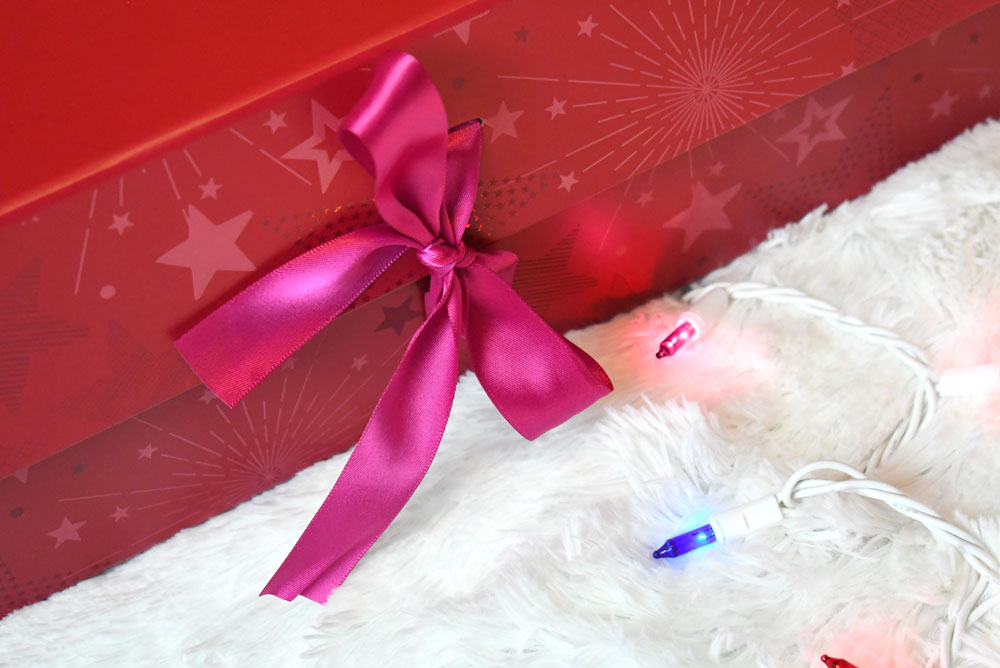 American Girl gift box tied with a bow