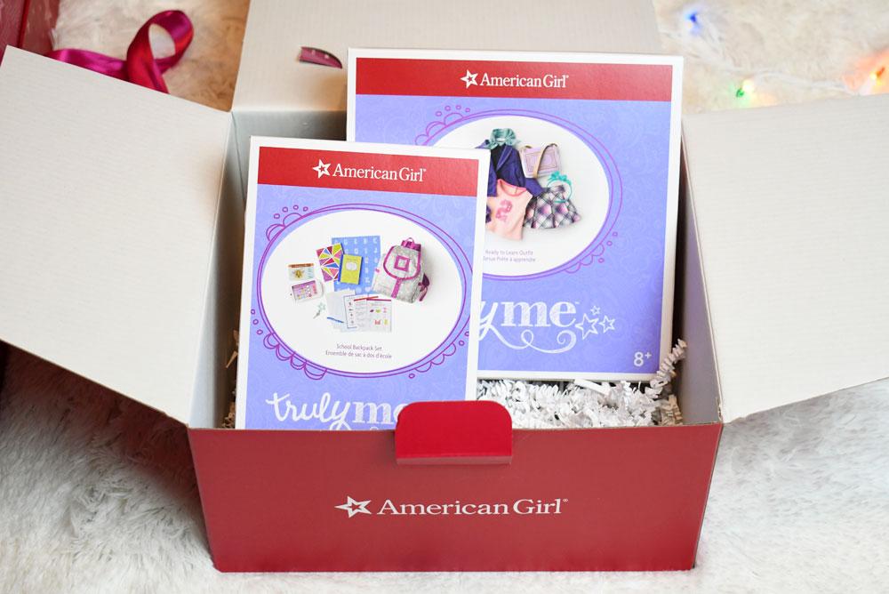 American Girl gift box Curiosity Play Pack: School