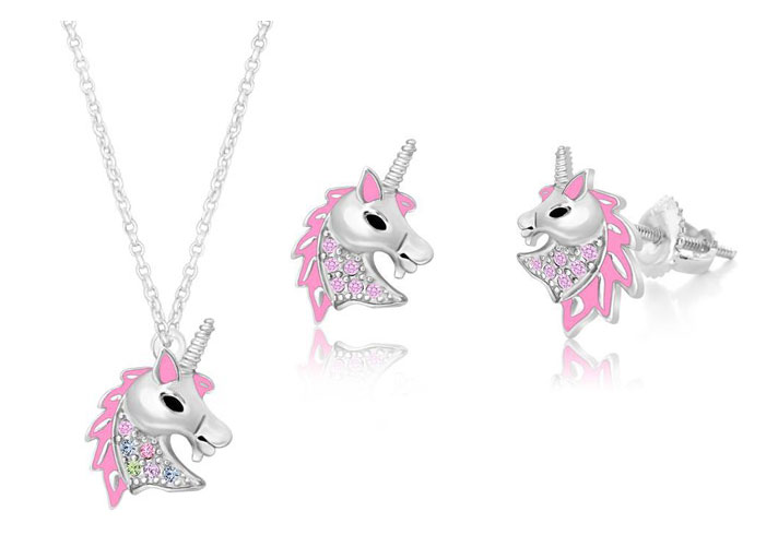 Chanteur Designs Unicorn Earrings + Matching Necklace Stocking Stuffer Giveaway