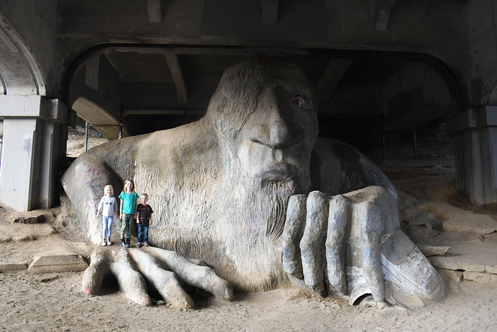 Fremont Bridge Troll things to do with kids in Seattle