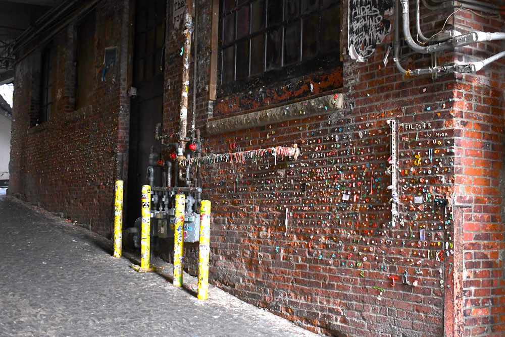 Gum Wall at Pike Place Market places to go with kids in downtown Seattle