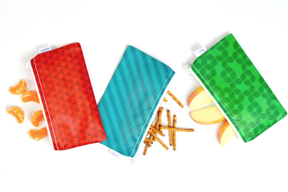Revelae Kids Cloth snack bags set of 3