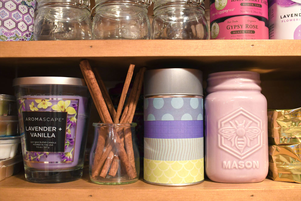Cute personalized DIY tea canister cabinet storage