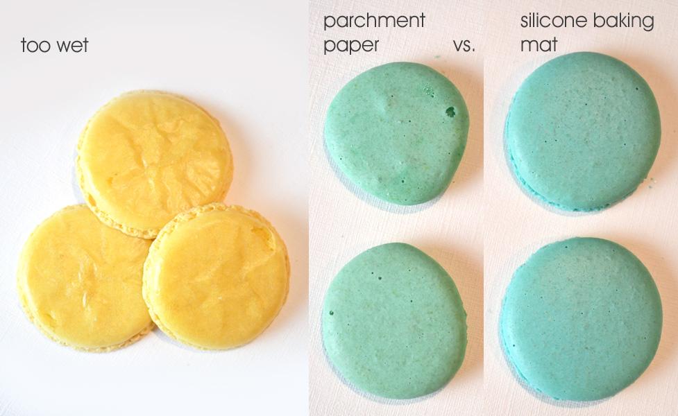 Problems making homemade macarons