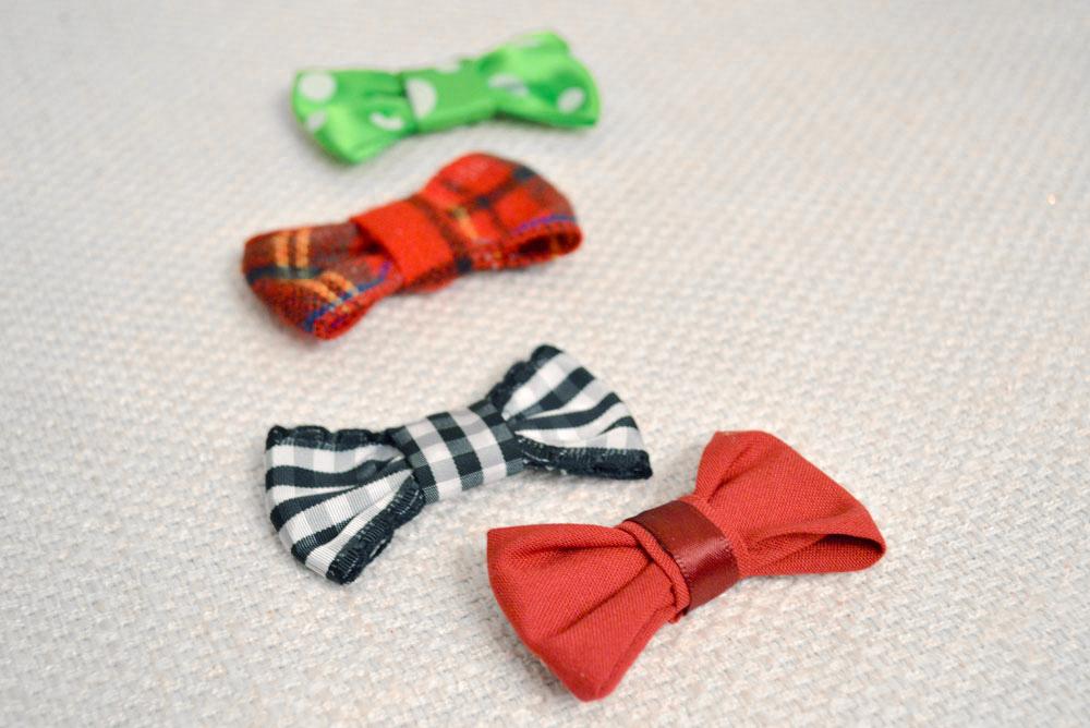How to Make No-Sew handmade ribbon baby bow ties