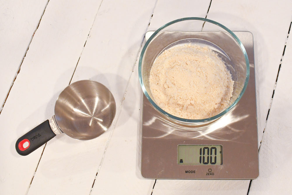 Perfect Homemade Macarons food scale and almond flour