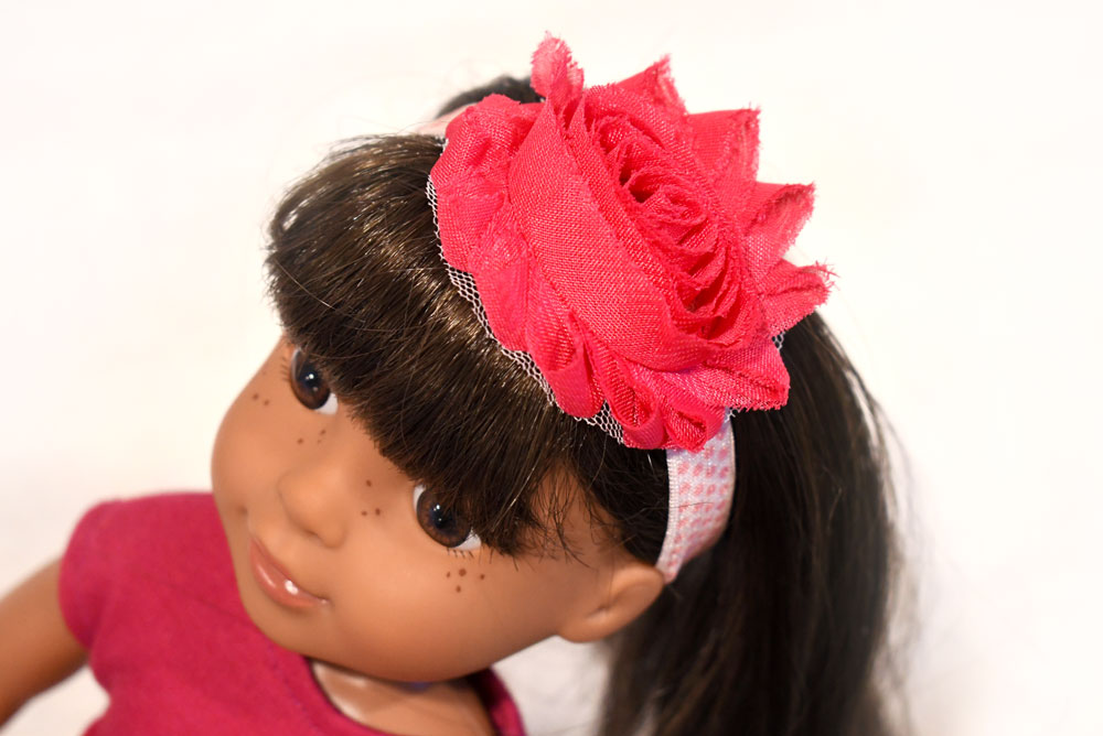 Easy DIY flower headbands for WellieWisher dolls