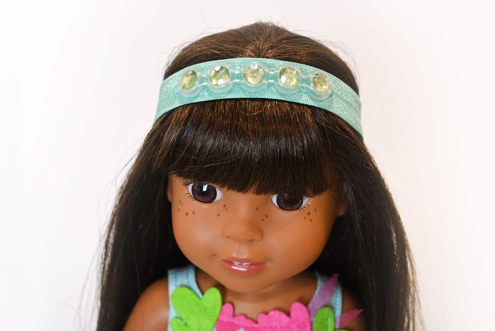 Easy DIY doll headbands for American Girl WellieWishers