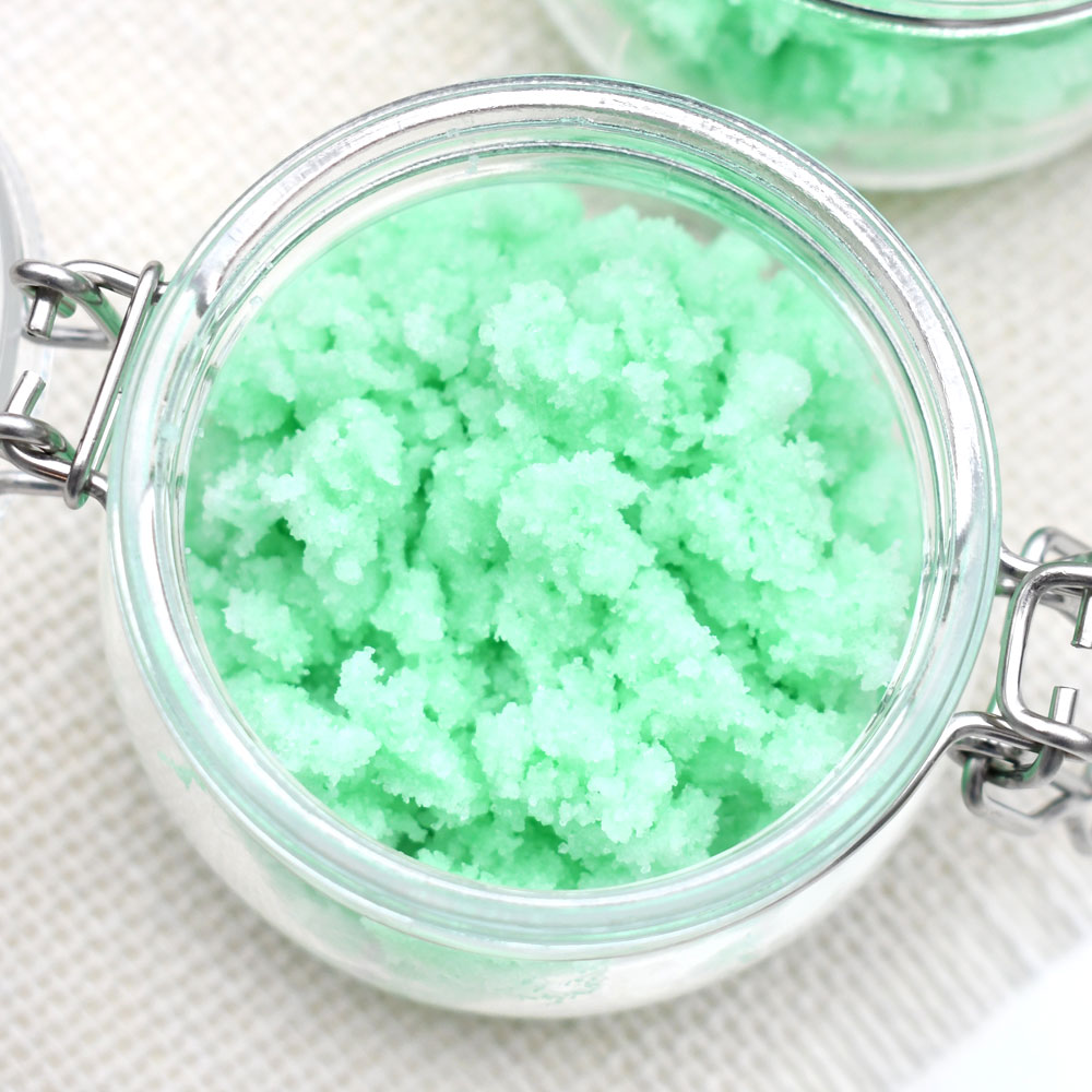 Homemade Mint Sugar Scrub