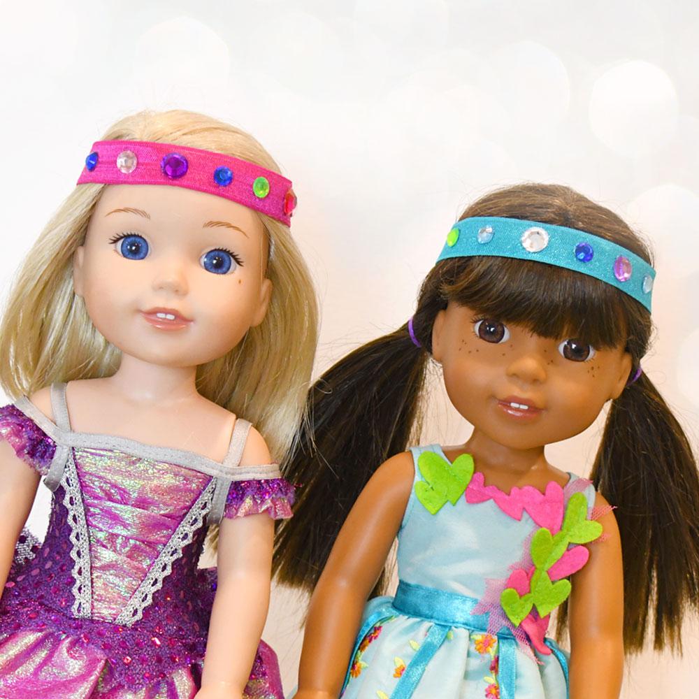 WellieWishers DIY Elastic Doll Headbands