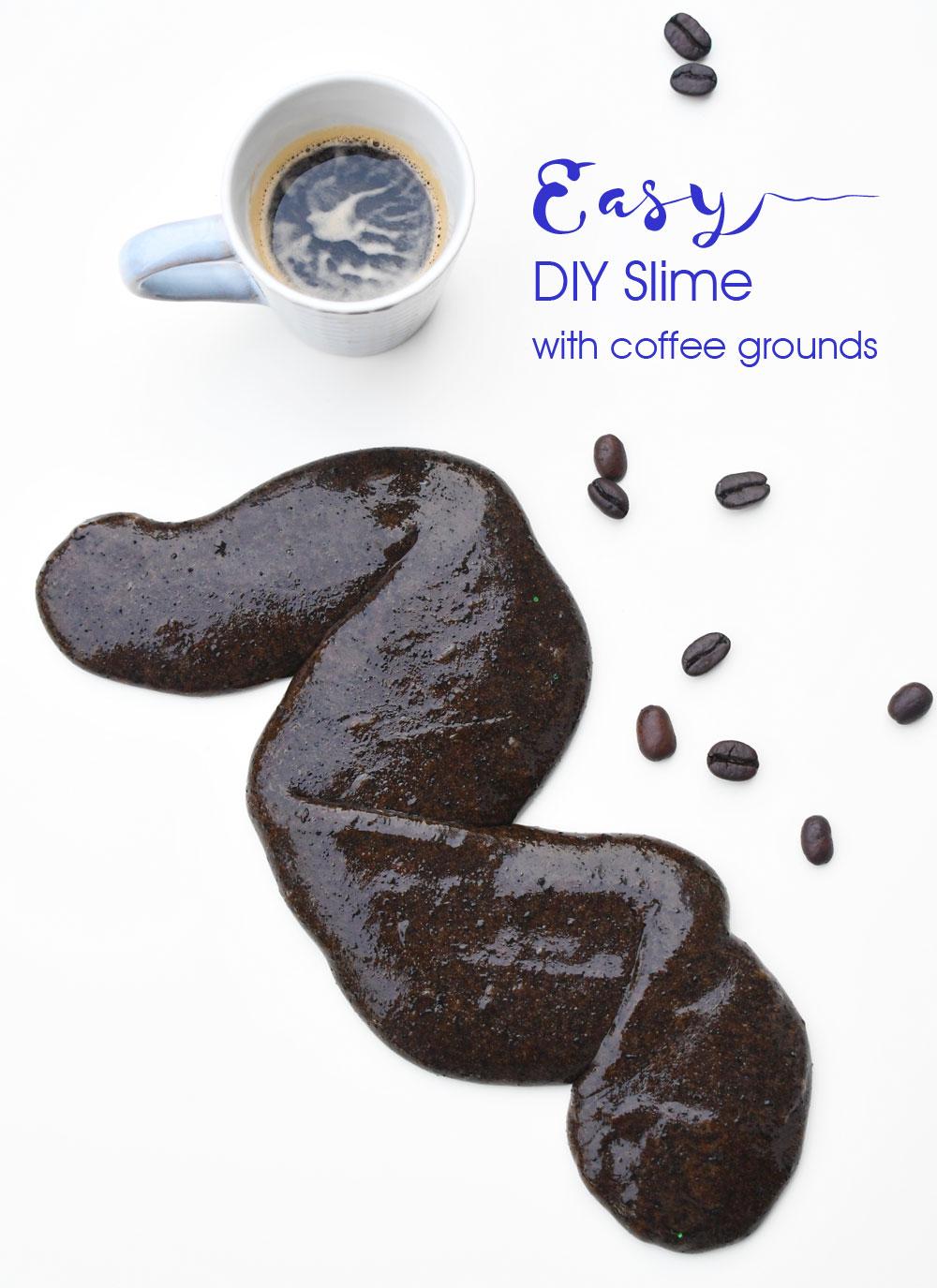 DIY slime with coffee grounds