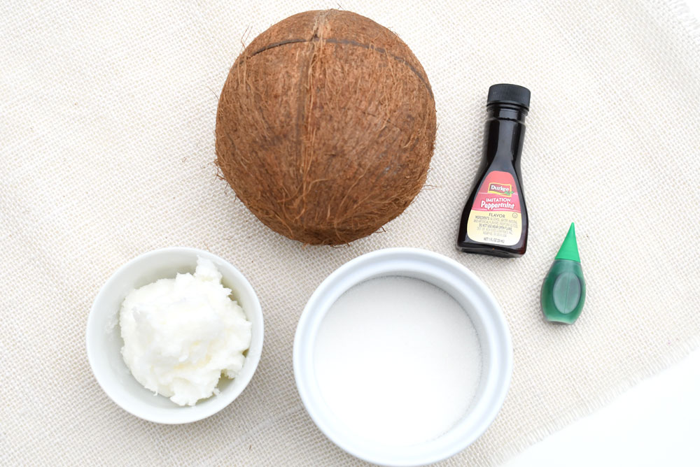 Easy DIY mint sugar scrub