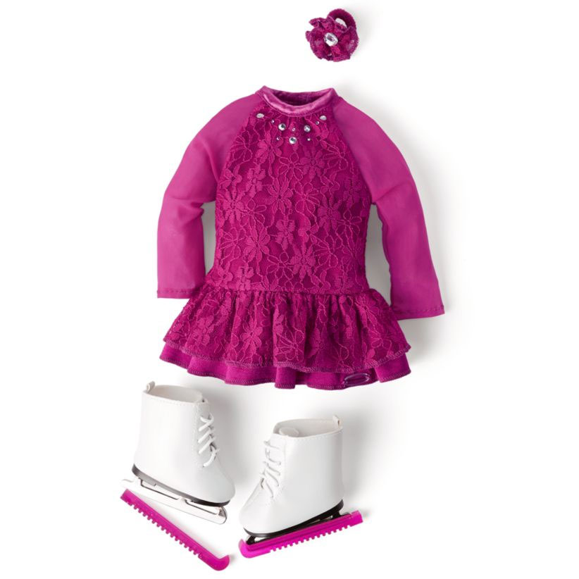 American Girl pink ice skating outfit
