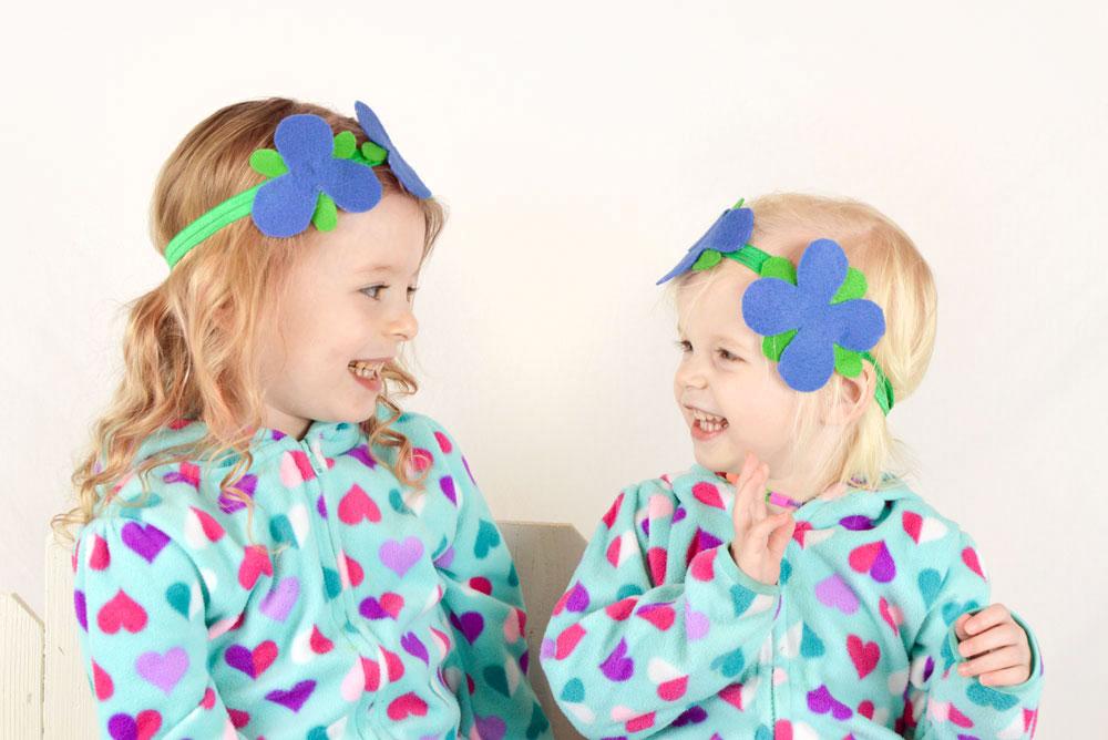 Easy DIY Princess Poppy flower headbands