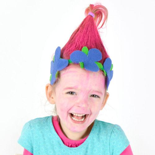 DIY Princess Poppy Flower Headband Craft Idea