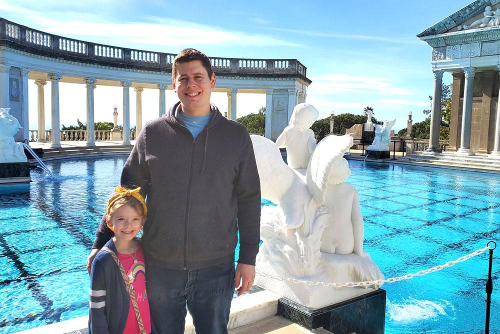 Hearst Castle family visit Neptune Pool