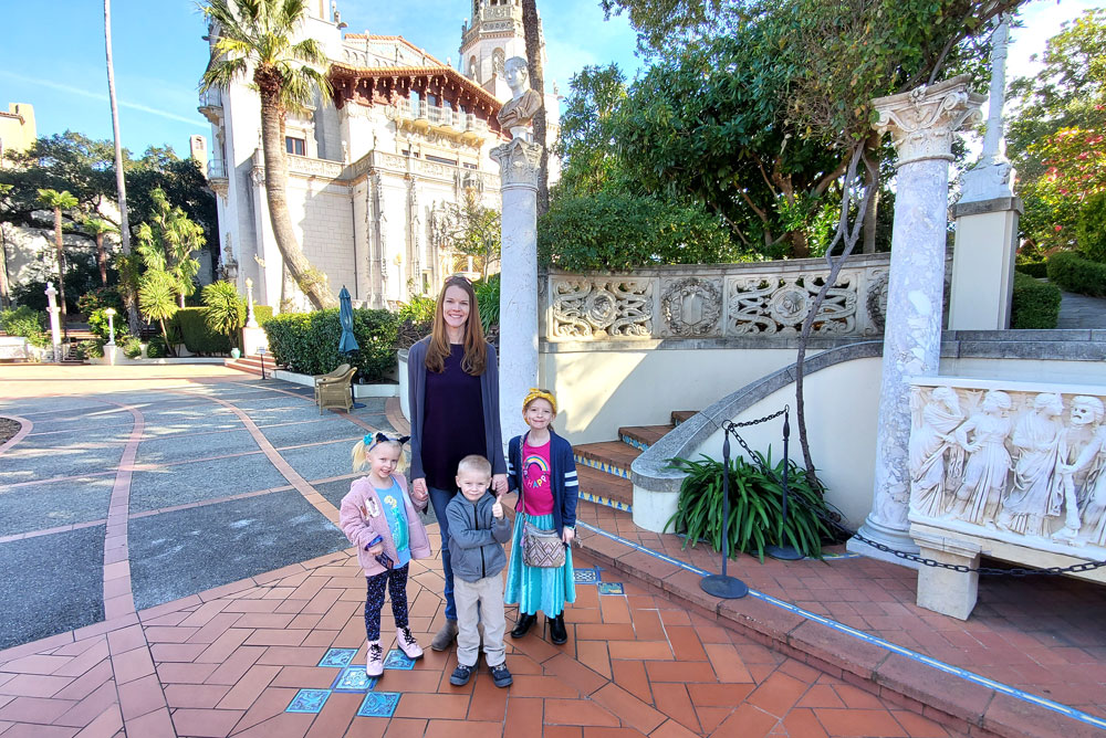 Hearst Castle tour with kids