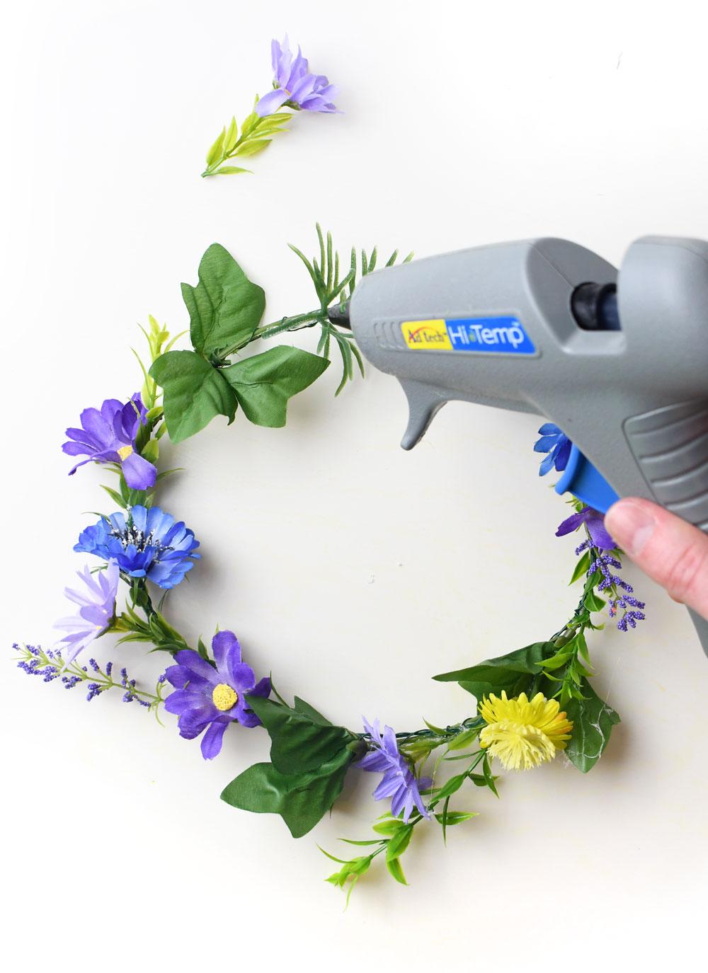 Easy DIY silk flower crown
