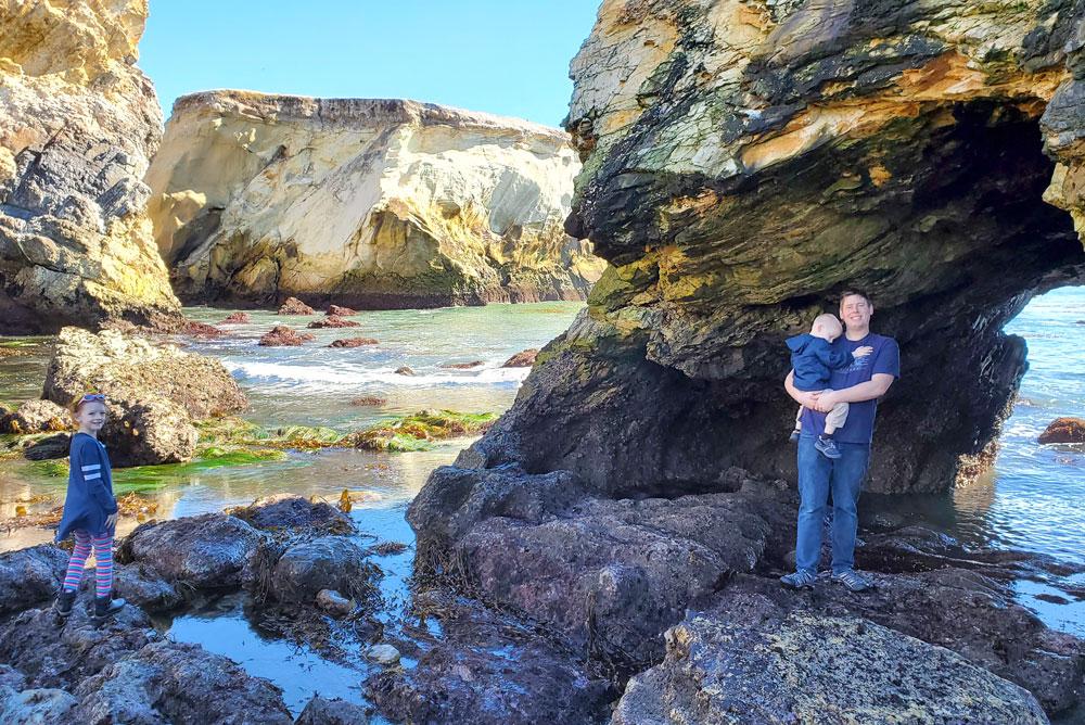 Margo Dodd Park Beach rock scrambling family adventure