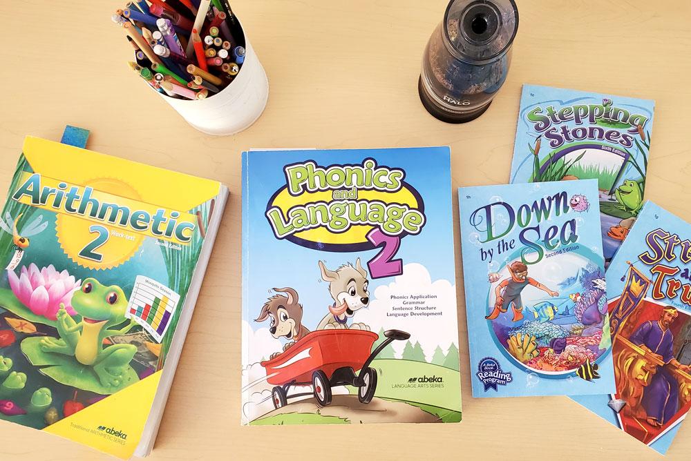 Kids 2nd Grade Abeka workbooks for homeschool