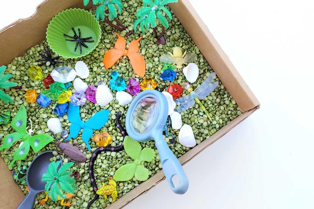 DIY sensory bin creative kids activity for homeschool