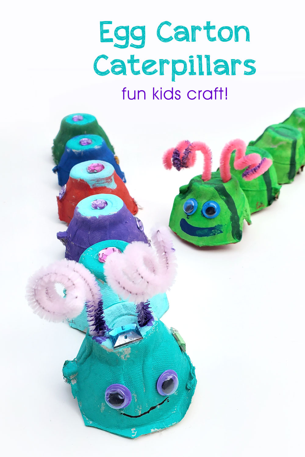 Egg carton caterpillars creative kids craft