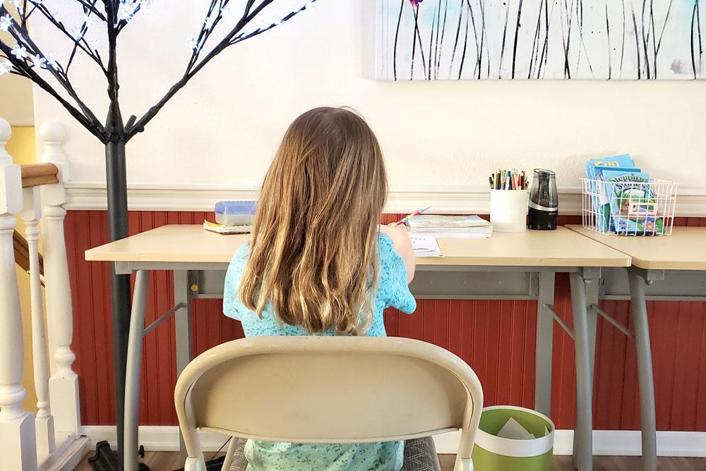 My kids homeschool routine and creative activities